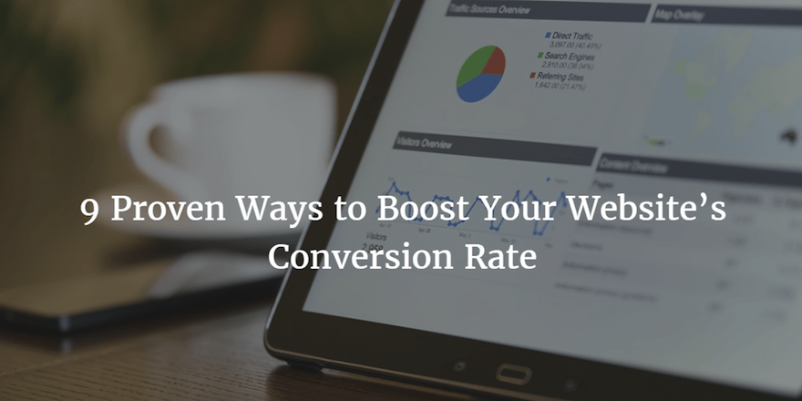 9 Proven Ways to Boost Your Website's Conversion Rate