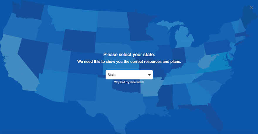 Select a State-United Healthcare