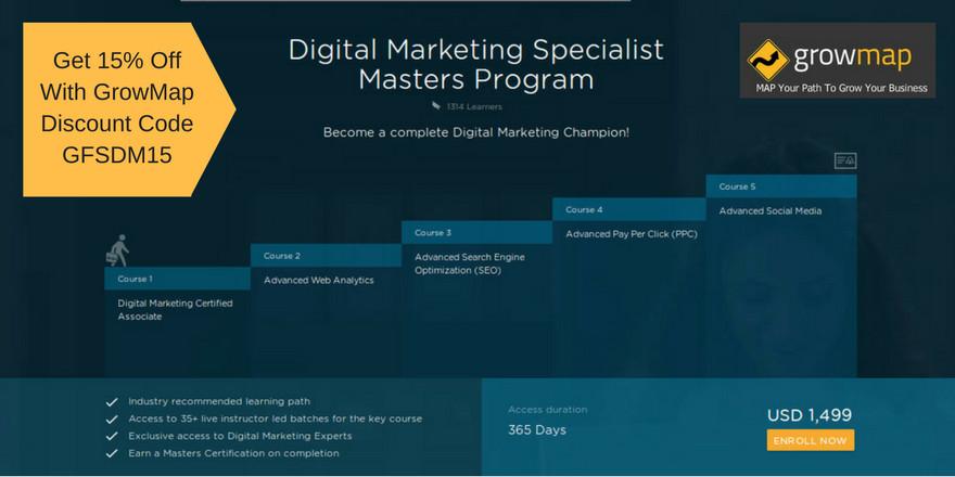 Simplilearn Digital Marketing Specialist Masters Program.