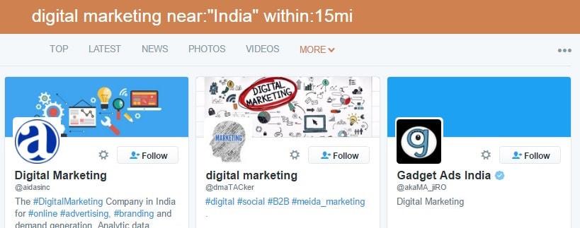 Digital marketing near India